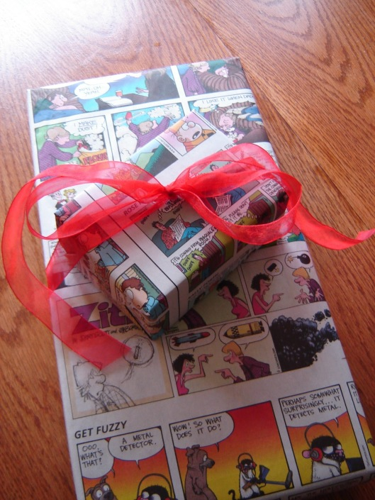 wrapping paper comics